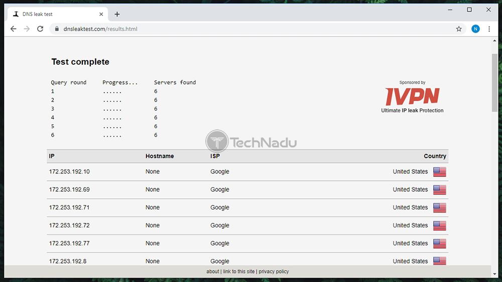 Hide ALL IP Passes DNS Leak Test