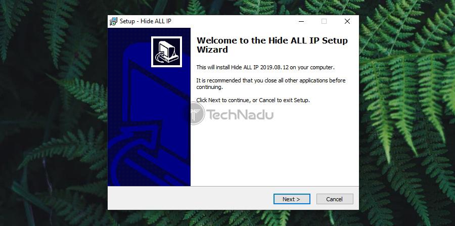 Installation Wizard of Hide ALL IP