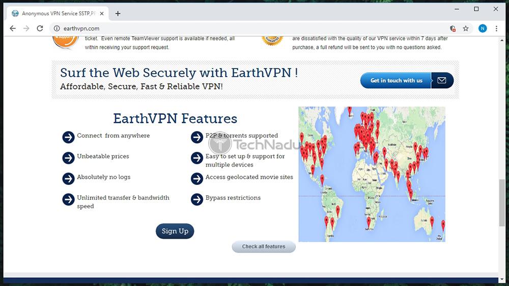 Link to EarthVPN Website