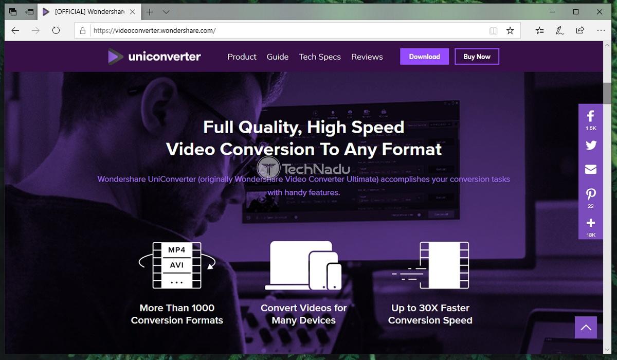 Link to Uniconverter Website