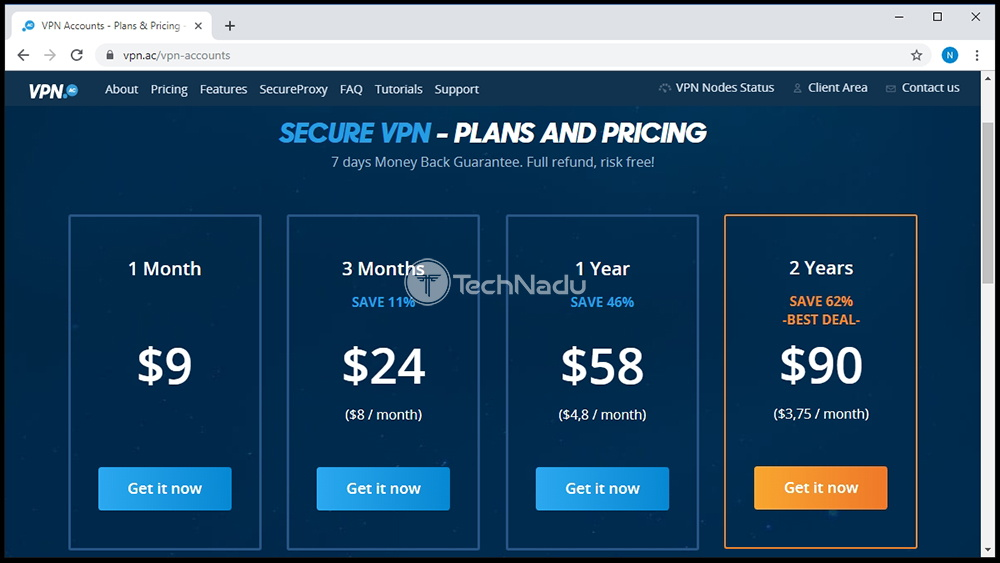 Link to VPN.AC Pricing Page