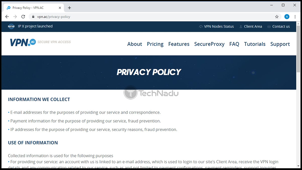 Privacy Policy VPN.AC