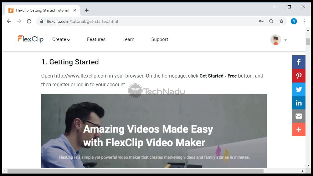 Support FlexClip Website