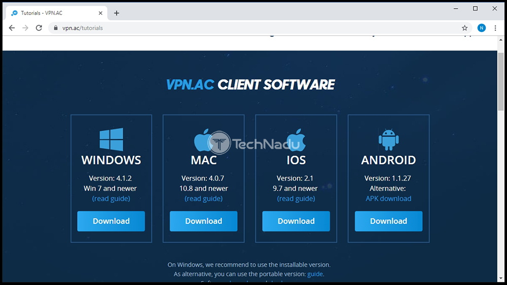 Supported Platforms VPN.AC