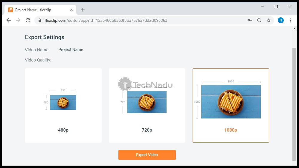 Video Export Options FlexClip