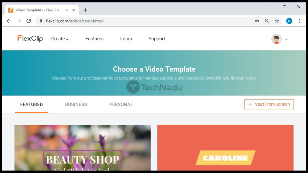 Video Templates Present in FlexClip