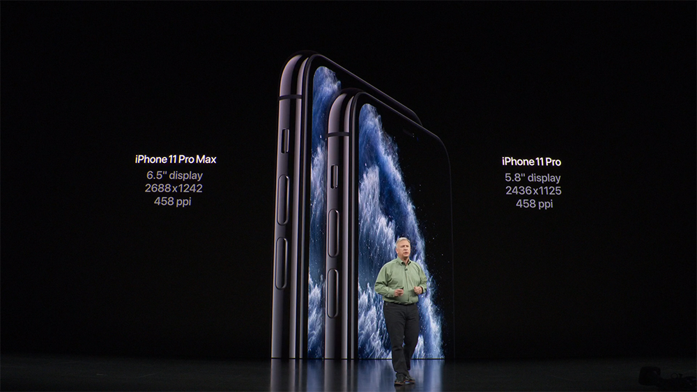 Apple iPhone 11 Pro Display Sizes