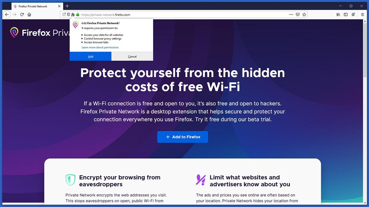 Firefox Private Network Installation