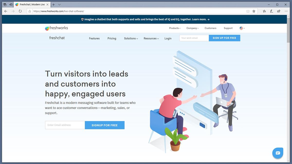 Freshchat Homepage