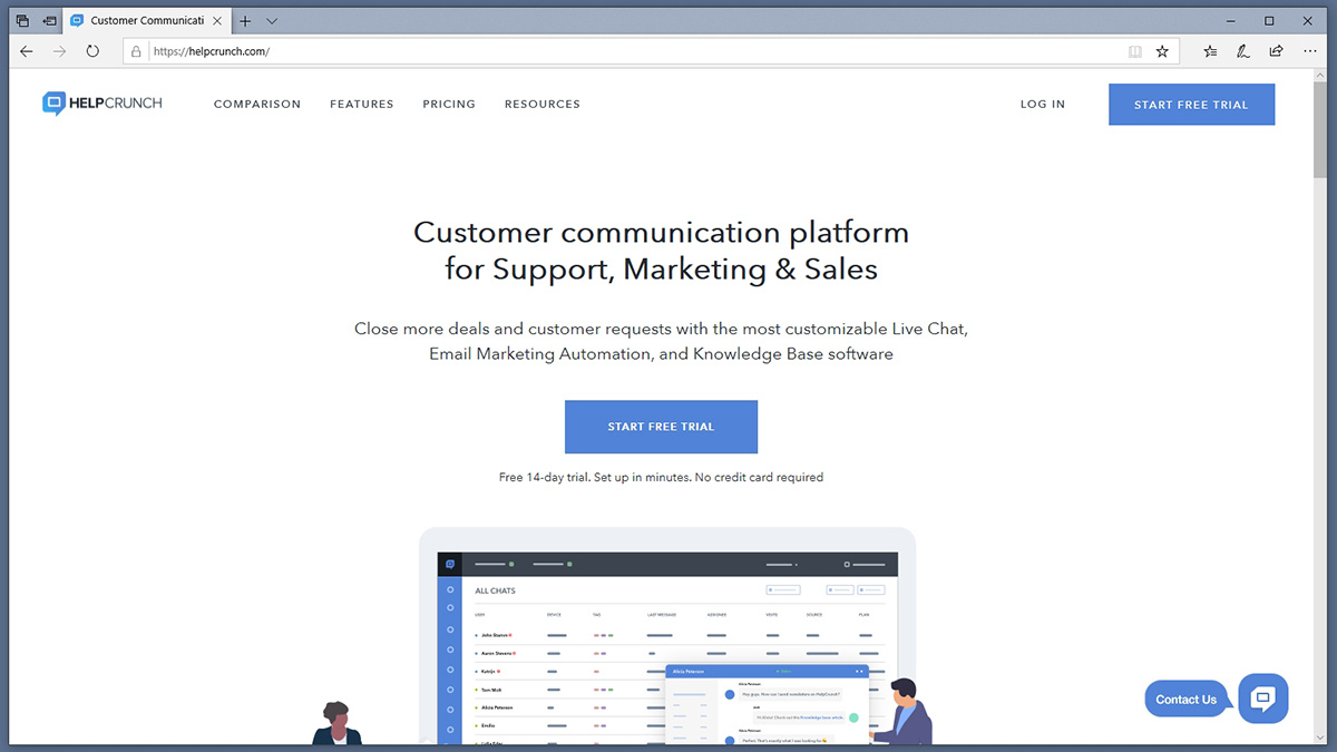 Helpcruch Homepage