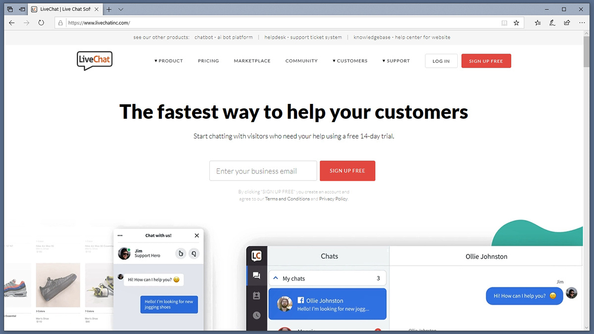 LiveChat Inc Homepage