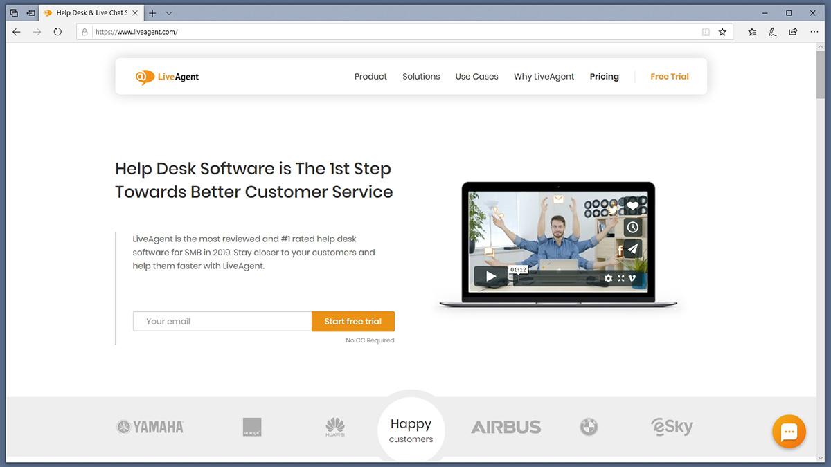 Liveagent Homepage