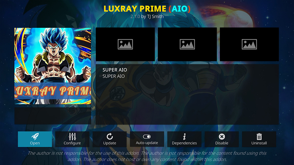 Luxray Prime Kodi Addon