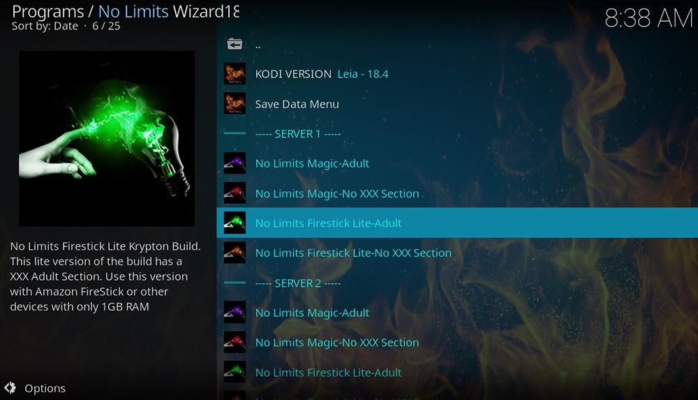 No Limits Wizard UI