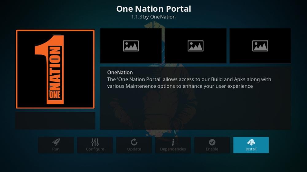 OneNation Portal Installation