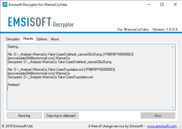 WannaCryFake-Decryption