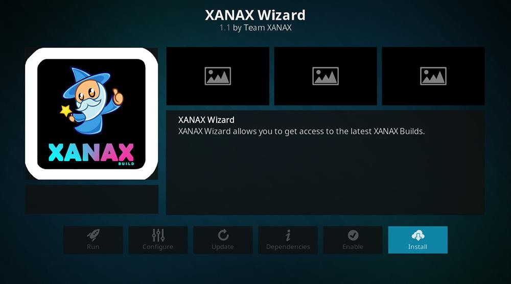 Xanax Wizard Installation
