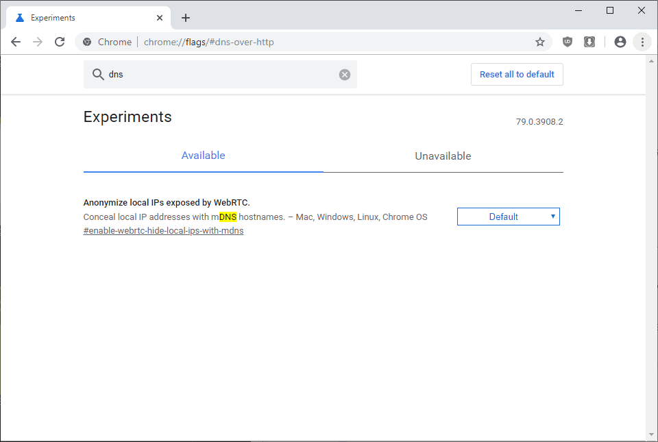 chrome-dns-over-https-disable