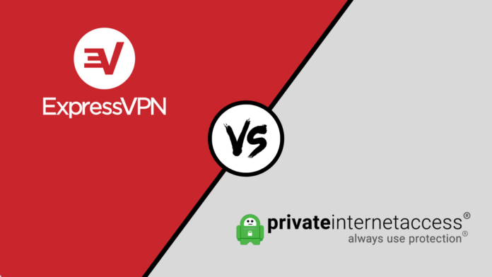 ExpressVPN Private Internet Access Comparison Logos