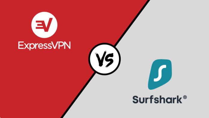 ExpressVPN Surfshark VPN Logos