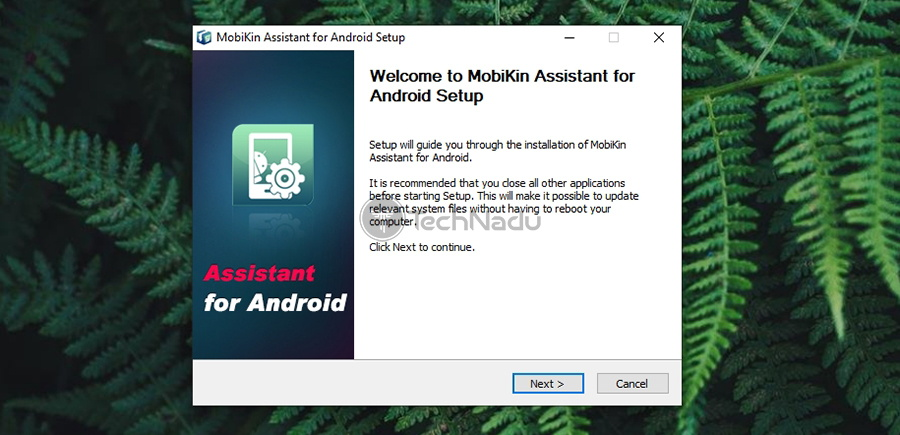 Installation Wizard MobiKin Assistant for Android