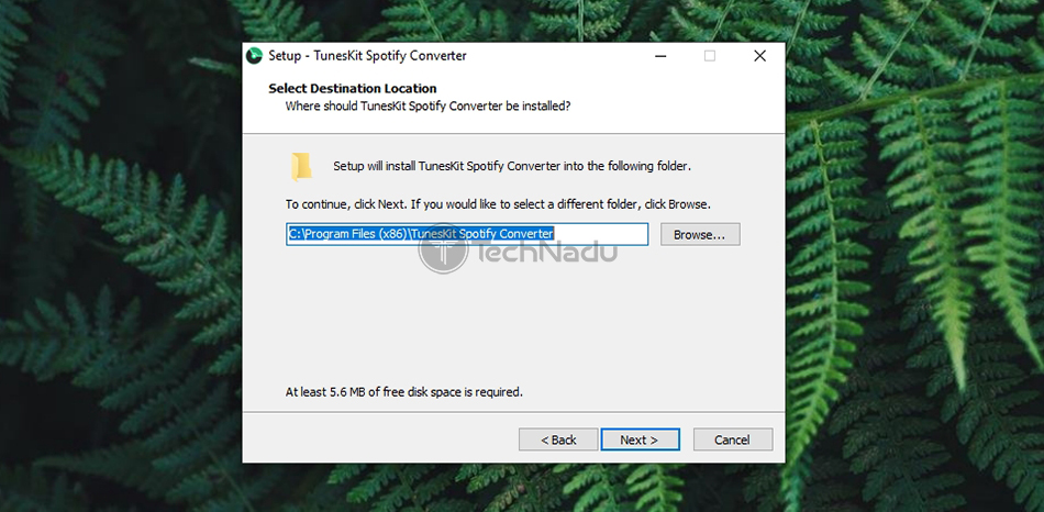 Installation of TunesKit Spotify Music Converter