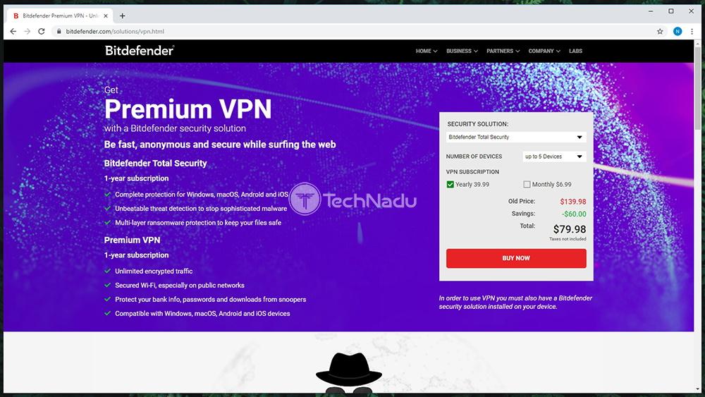 Link to Bitdefender Premium VPN Website