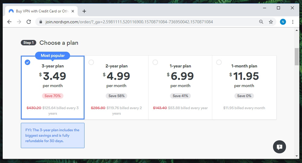 Link to NordVPN Pricing Page