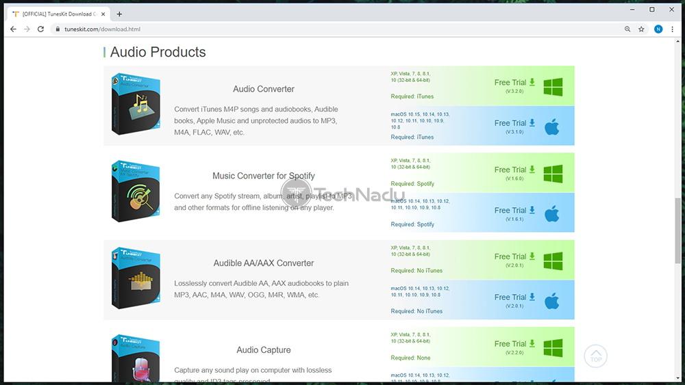 TunesKit Download Page