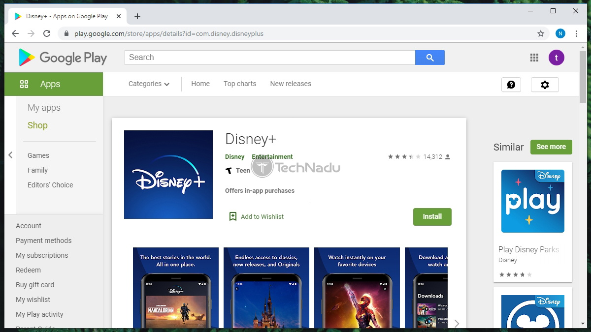 Disney Plus Google Play Store