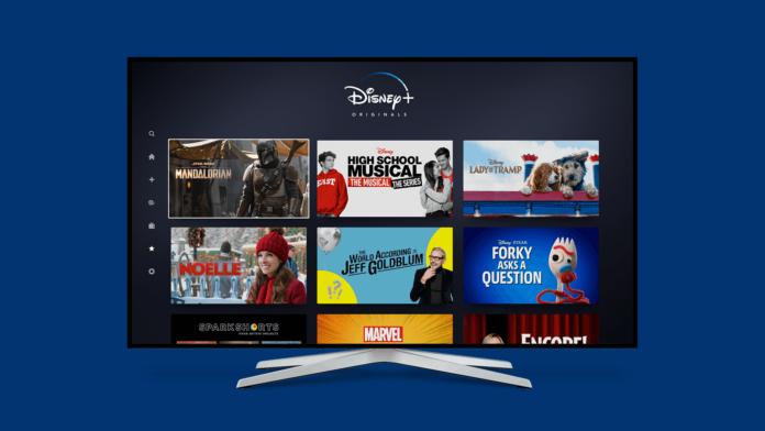 Disney Plus TV Screen