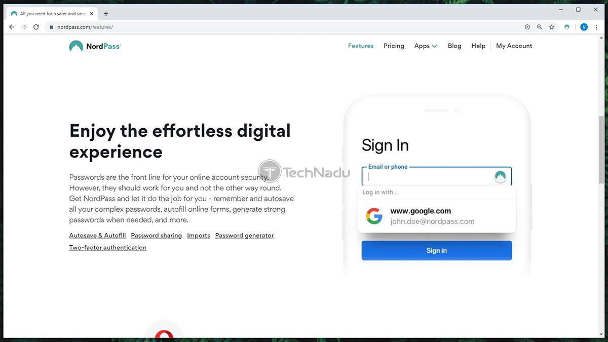 Link to NordPass Website