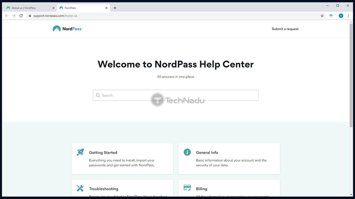 NordPass Customer Support Portal