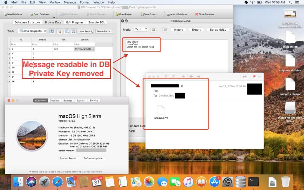 apple email key