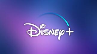 Disney Plus Logo Gradient Background