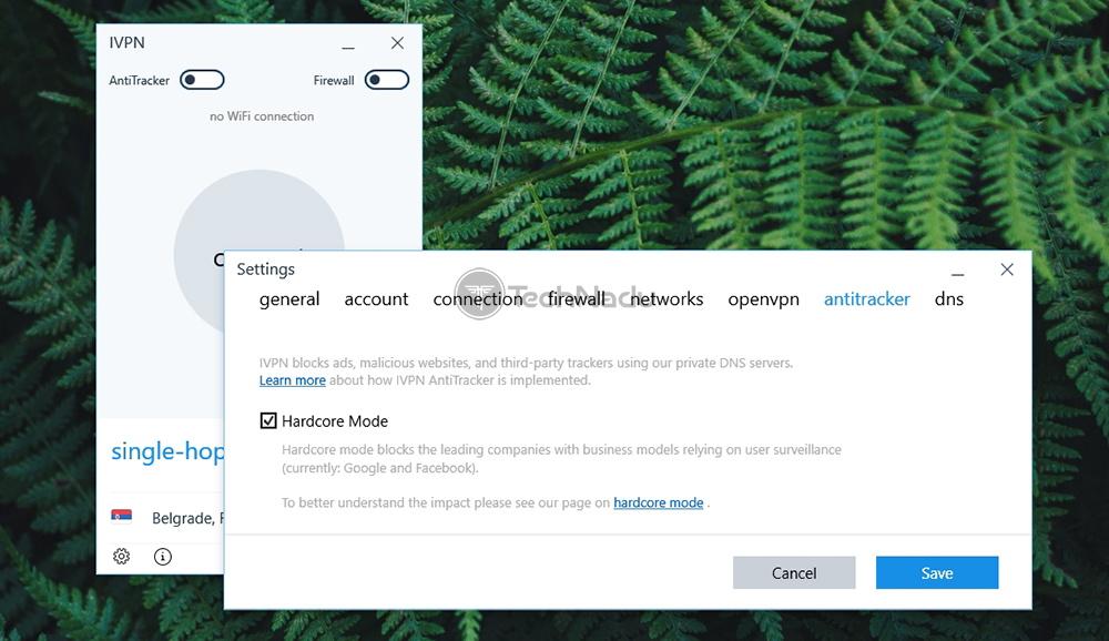 IPVN AntiTracker Feature Hardcore Mode