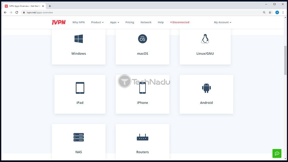 IVPN Supported Platforms List