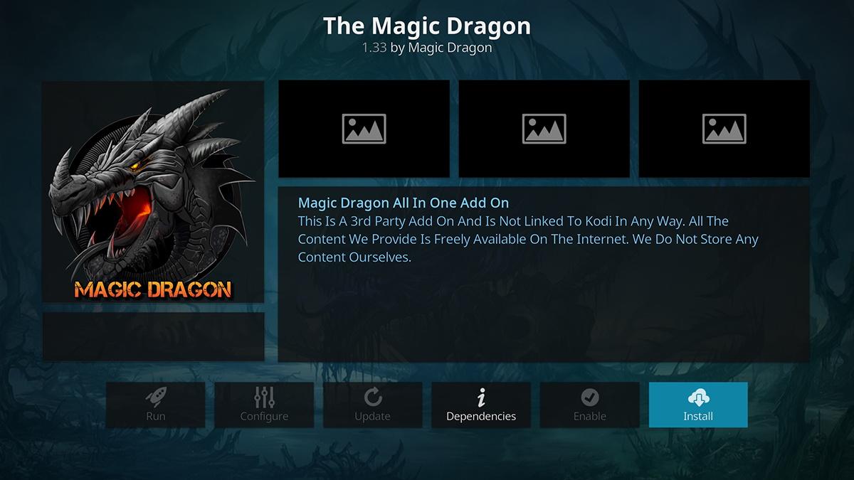 Install The Magic Dragon on Kodi