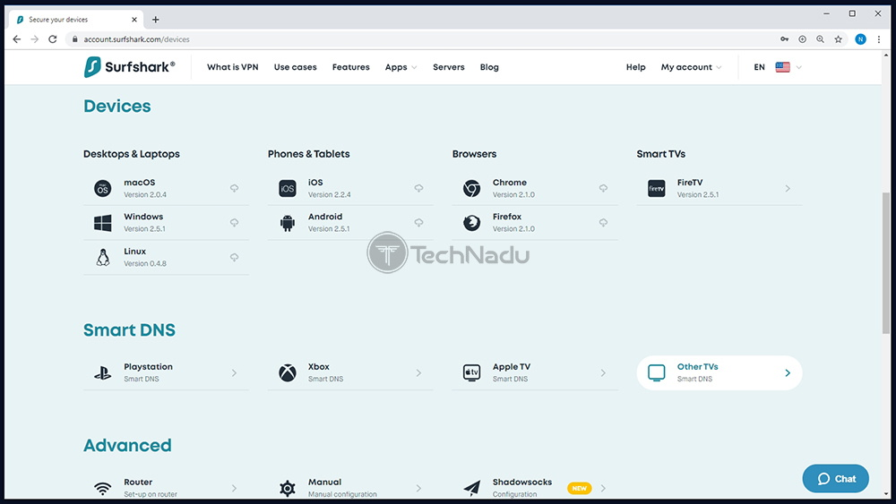 List of Supported Platforms Surfshark VPN