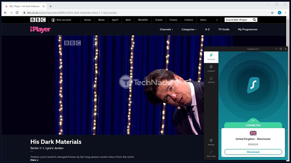 Surfshark BBC iPlayer Unblocked