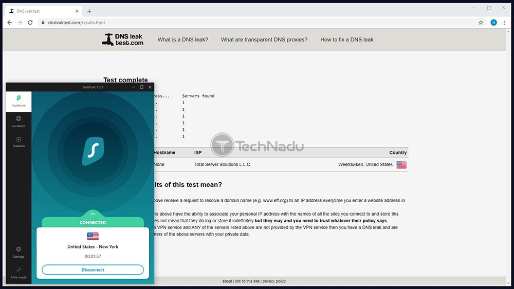 Surfshark Passes DNS Leak Test