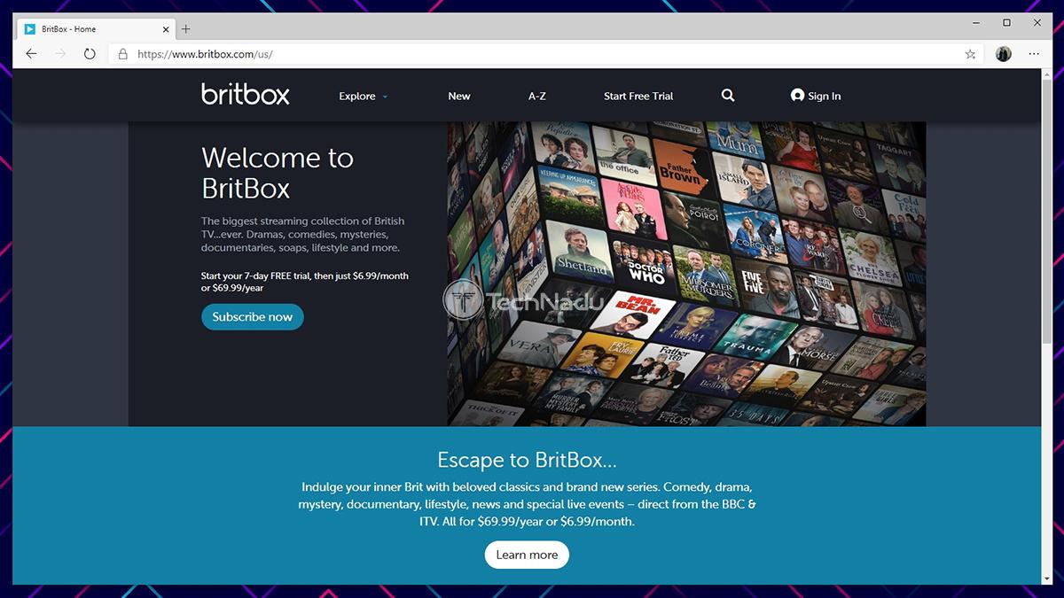BritBox Website