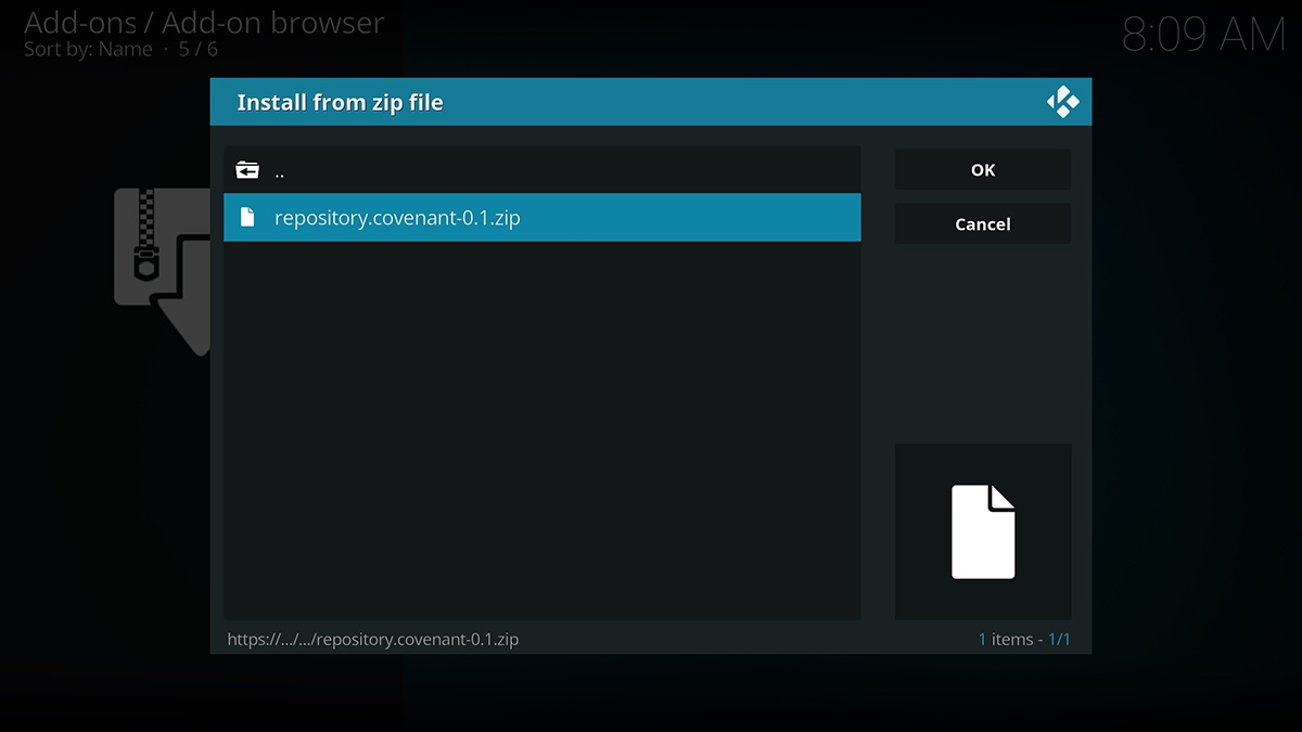 Covenant Repository ZIP File Location