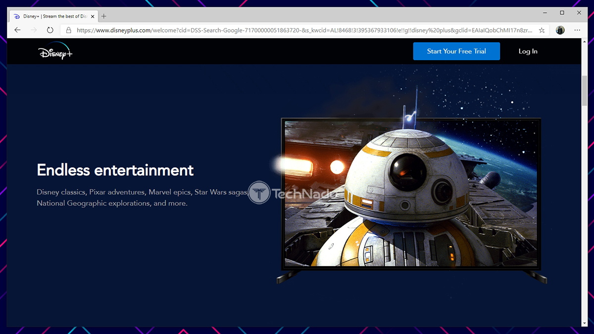 Disney Plus Website