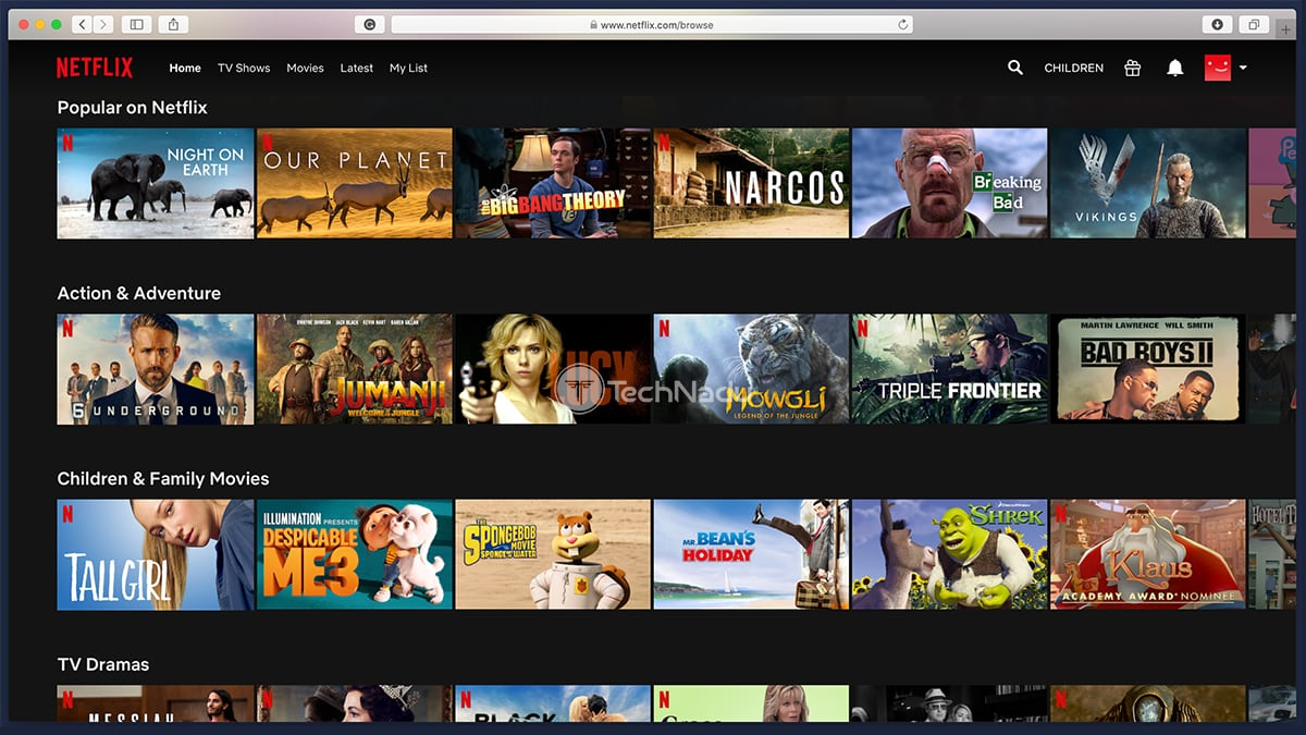 Netflix Content Library