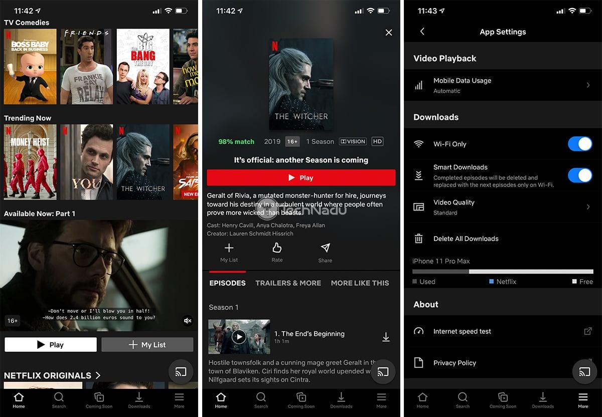 Netflix UI iOS