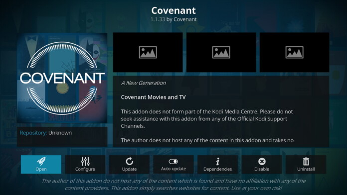 Overview of Covenant for Kodi