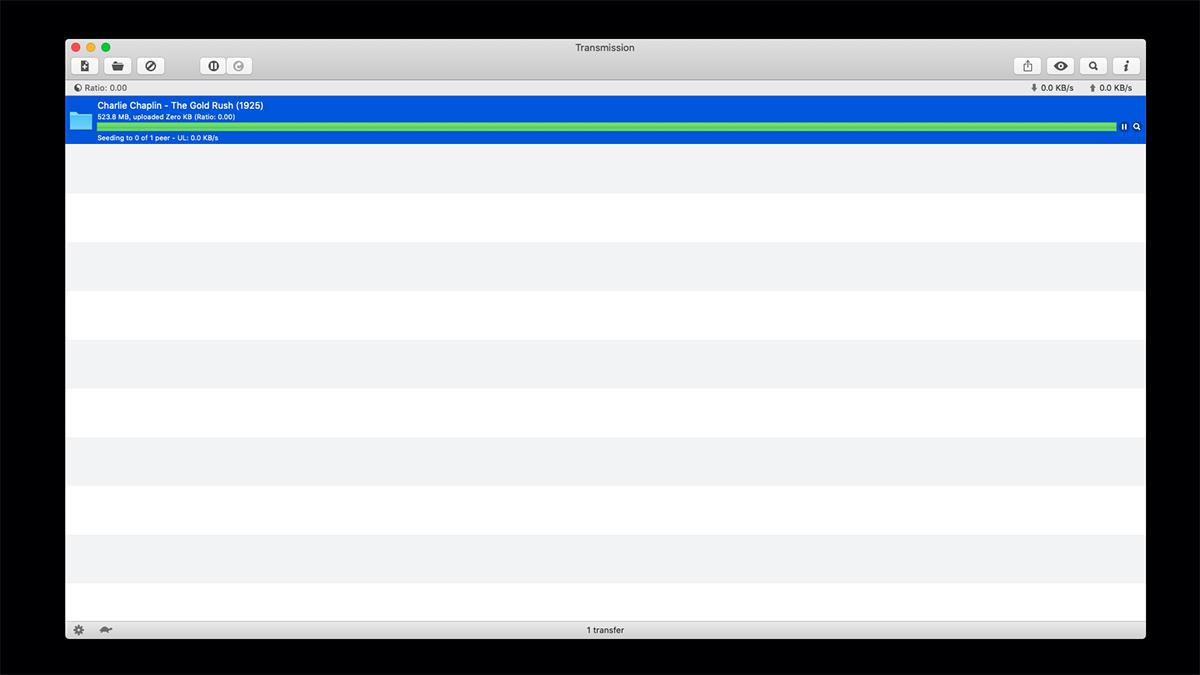 Transmission for Mac P2P Client