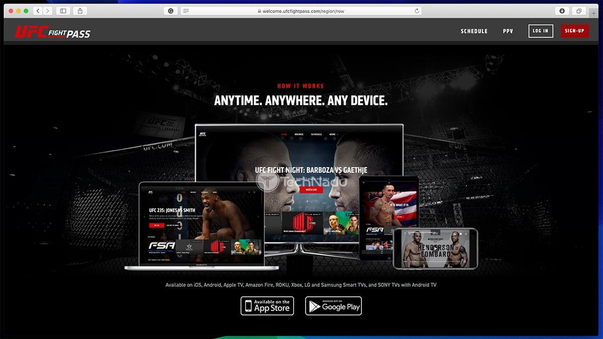 UFC Fight Pass Website